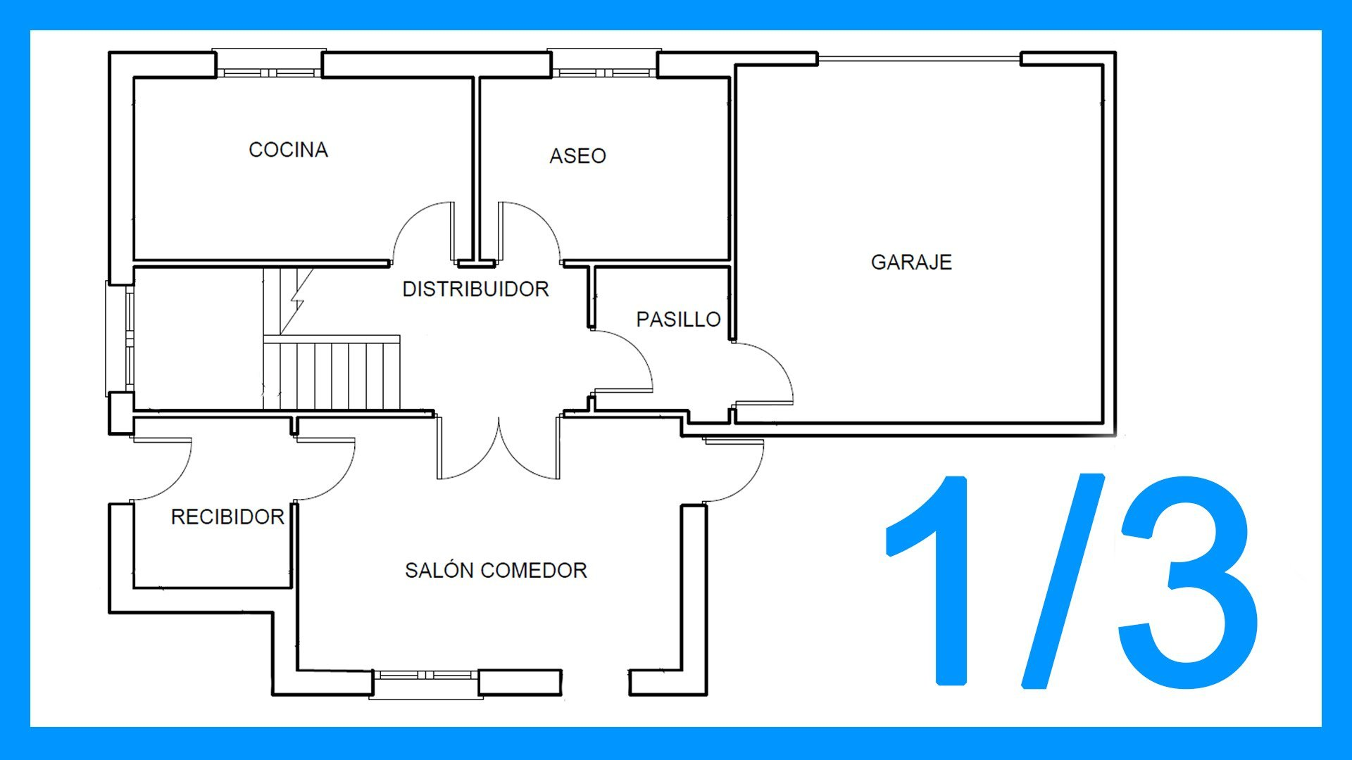 Autocad - 1/3 Dibujar el plano de una casa paso a paso en Autocad. - Saber  Programas