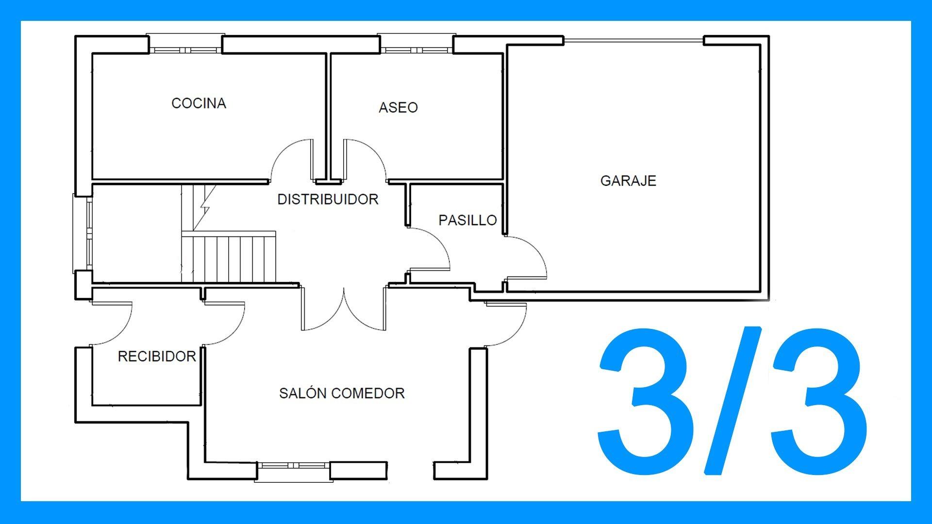 Autocad 3 3 dibujar el plano de una casa paso a paso en for Como crear un plano de una casa