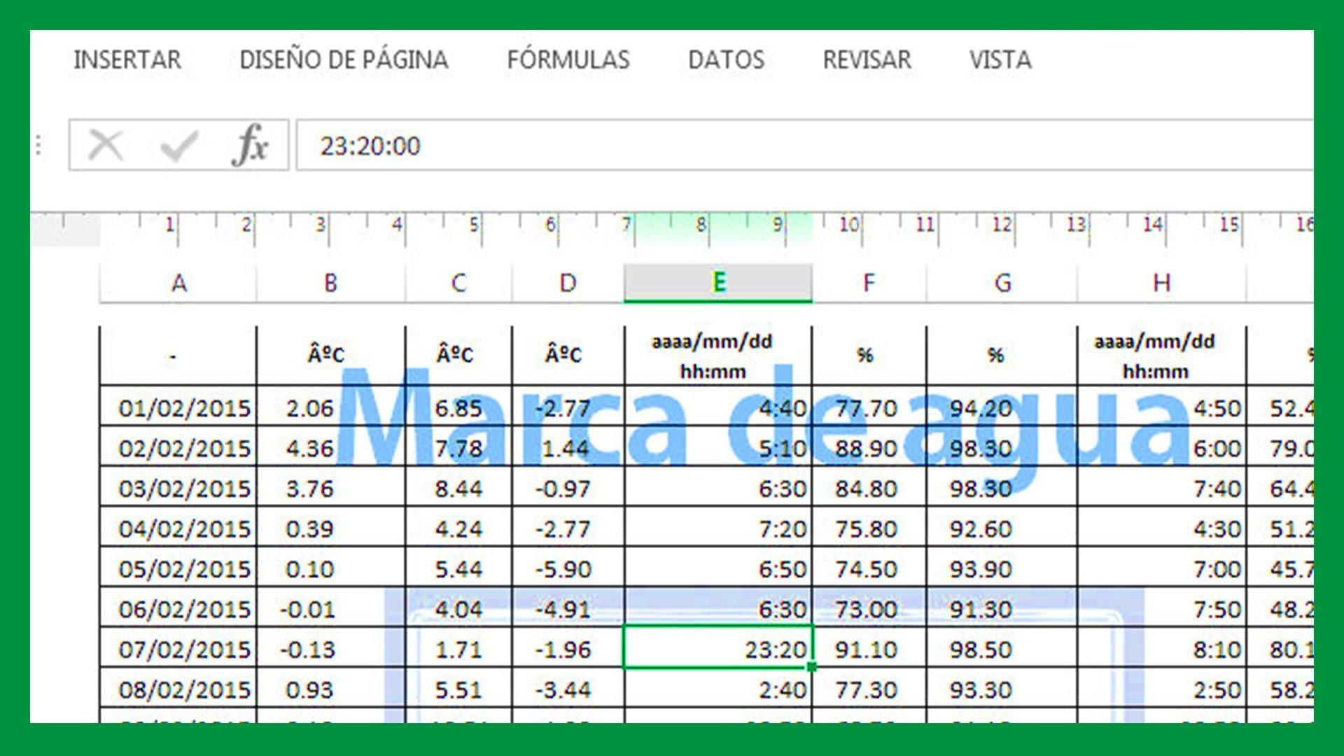 Excel  Imagen como marca de agua Marca de agua en Excel  Saber