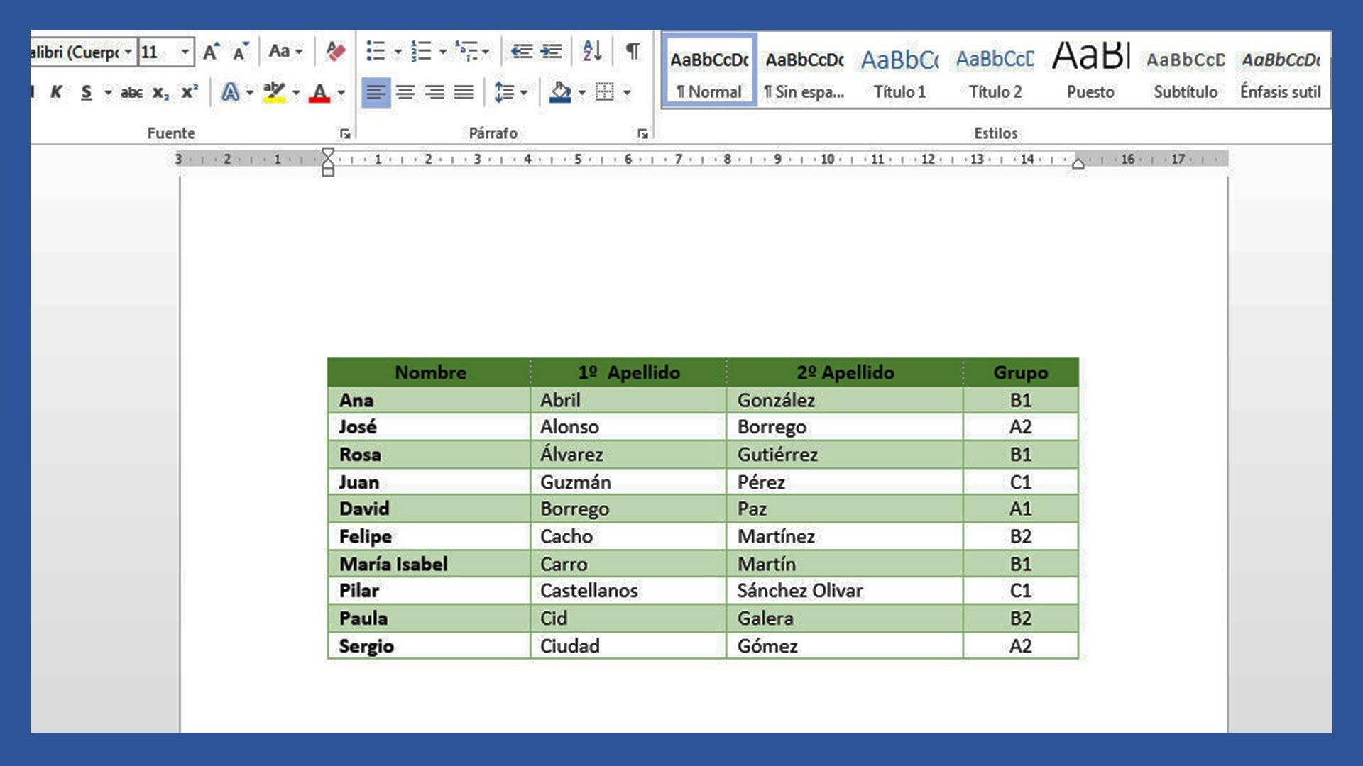 Word Crear Y Editar Tablas En Word Saber Programas