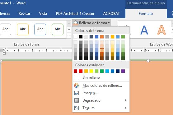 Word - Cambiar el color de fondo de una página en Word - Saber Programas