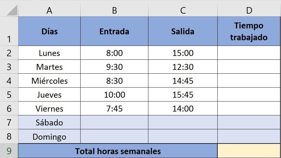 Excel- Sumar y restar horas, minutos y segundos - Saber Programas