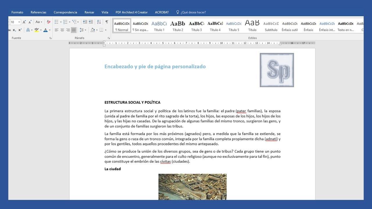 Word - Agregar y modificar encabezados y pies de página diferentes ...