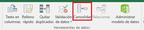 juntar tablas en Excel con la función Consolidar