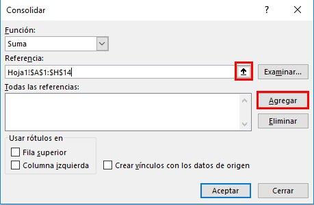 juntar tablas en Excel