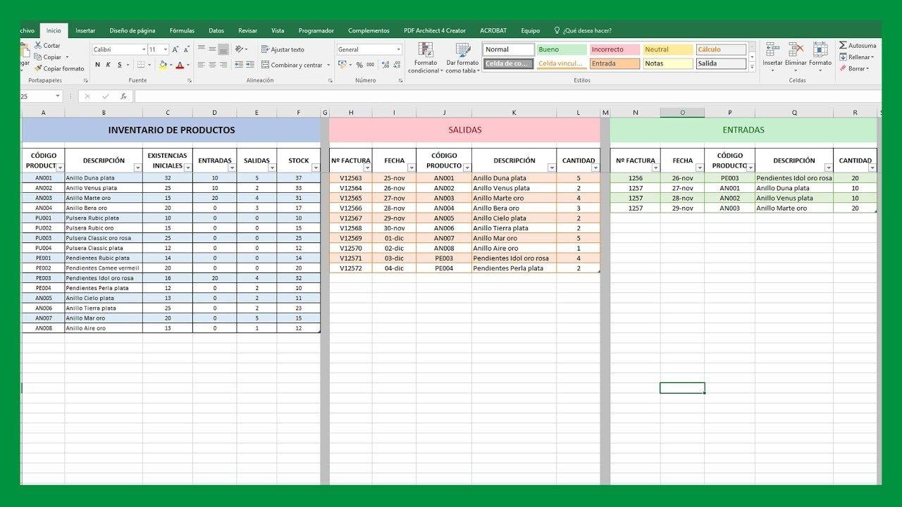 Excel - Inventario y stock en Excel - Saber Programas