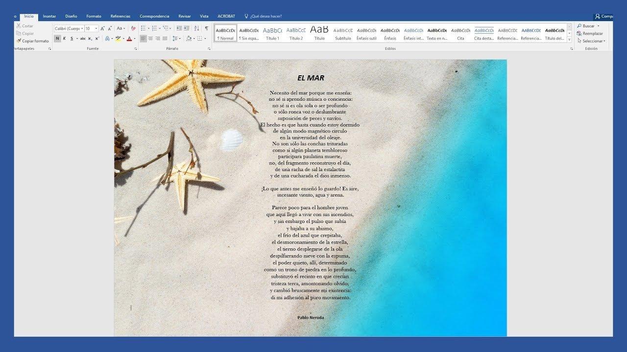 Como insertar una imagen de fondo en Word rápido y fácil
