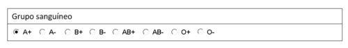 formulario en word botones de opciones