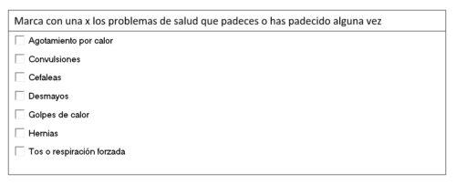 formulario en word casillas