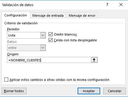 factura automática en Excel