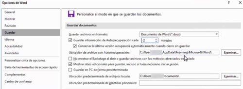 Recuperar un archivo de Word no guardado