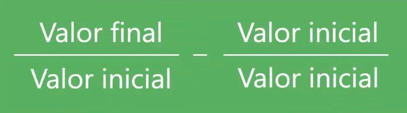 variacón porcentual en Excel